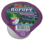 "Йогурт з фруктовим наповнювачем ""Малина - чорниця"". 3,2%"